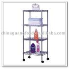 4-layer chrome shelf/metal rack