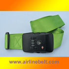 Top classic TSA green suitcase belt