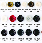 18L and 20L Natural Corozo Nut Buttons for Shirts