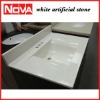 white artificial stone vanity top