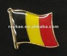 Belqium flag pin,16mm metal world country flag lapel pin