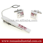 Beautiful classic new design metal clips for clip on ties set