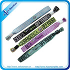 rock bottom price of custom woven wristbands for events