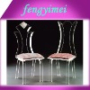 Clear Acrylic Chair with mat,Plexiglass chair FYM-ACD2013