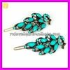 Colorful Resin Stone Studded Small Hair Clip for Kids FS-355