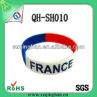 2013 customized glo free Rubber Debossed bracelet