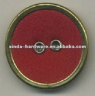 Red colo with gold edge winter buton fabric covered sewing button