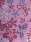 600D PVC coated 100% polyester printed fabric, 2012 new design,butterfly and flower