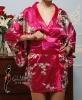 Red soft kimono