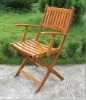 wooden outdoor single chair