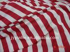 colored stripped 1x1 rib knit fabric