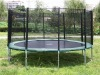 10ft Round trampoline with enclosure