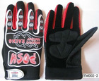 fox new design red motor racing gloves (M-712)