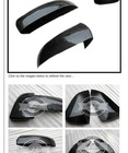 Real Carbon Fiber Side Door Mirror Cover Protecter Caps for BMW X5 E70 X6 E71