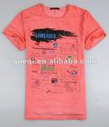 mens fashion cotton garment dyed t-shirts