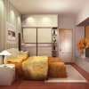 sliding door of bedroom wardrobe