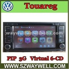 3G USB port ,PIP function ! VW Touareg gps navigation player with BT dvd player