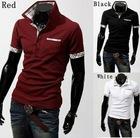 Mens Stand-Collar Slim Fit Designer Scotland Check Dress Casual Polo Shirts M-XXL