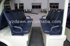Steel framework fiberglass body 23 seater electric commercial tourist bus