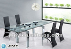 High quality tempered glass dining table
