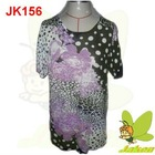 2012 New Hotsale prints of flowers and beading casual short sleeve for spring and summer Ladies Sweater JK156