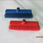 HQ0573 double colors red color leaf broom with PP block/cleaning sweeper