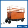 4 wheel electric scissor lift table