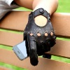 Mens Fashion style leather driving motorbike glove