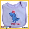 0-3 years cotton baby bibs with embroidered