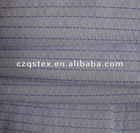 CVC yarn dyed dobby shirting fabric
