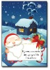 Fancy shining santa claus handmade decoration greeting card