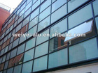 curtain wall with top hung window