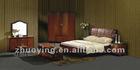 Antique leather wooden bedroom set ZOE-02#