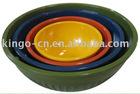 4 PC melamine bowl set