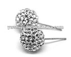 925 sterling silver plating crystal blacpaved stud ,stud earrings, crystal hot selling stud earrings,