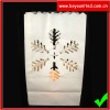 Christmas day snowflake paper candle bags