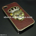 Metal Mobile Phone Case with animal head metal ornament