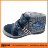 blue color PU+ leather children boot in european style