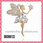 Angel shape diamond brooch
