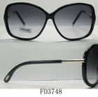 Cool Men Black Plastic Frame sunglasses