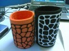 neoprene animal print can cooler
