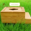 Natural type bamboo tissue box