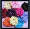 rainbow crochet flower,decorative handmade crochet flower for christmas decoration