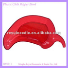 Red FDA Plastic Clear Chili Pepper Bowl or Plate