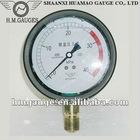 Liquid filled Capsule Pressure Gauge For Air Conduit