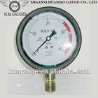 Liquid filled Capsule Pressure Gauge For Air Conduit