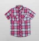 2013 Summer Fashion Boys Shirt Plaid fabric