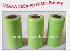 1/2AAA NI-MH 1.2V rechargeable 250mAh battery