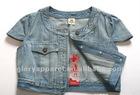 Ladies short denim shirt,fitted shortsleeve designer shirts