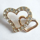 fashion double heart diamond dustproof plug for brand phone